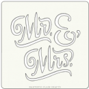 "Artistic Flair, Craft Stencil 101 Range - (4"" x 4"") - Mr & Mrs"